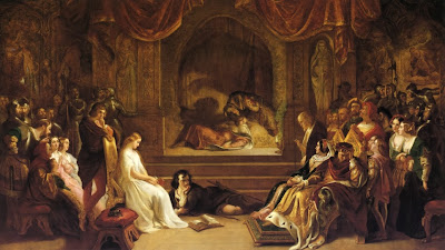 Daniel Maclise - The Play Scene in 'Hamlet'