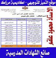 برنامج صنع الشهادات المدرسية من الصف الاول حتى العاشر أ-محمود علقم