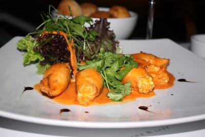 Squid starter at Iguana Restaurant in Belgrade Serbia