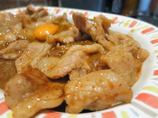 スタミナカレーの生姜焼きのバラ肉