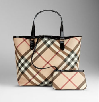 Burberry Medium Nova Check Tote Bag