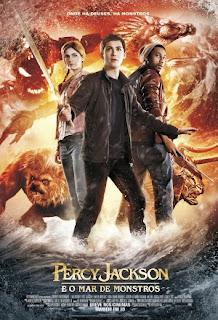 Filme Poster Percy Jackson e o Mar dos Monstros WEBRip XviD & RMVB Dublado