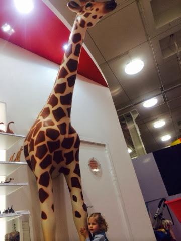Lifesize giant schleich giraffe