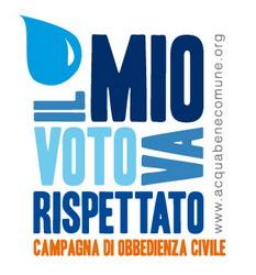 Logo della Campagna di Obbedienza Civile: il mio voto va rispettato!