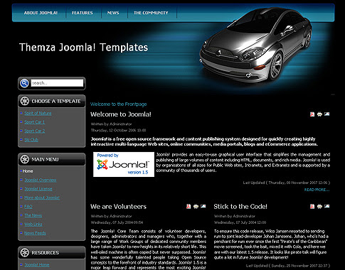 free cars portal joomla 3 free joomla bleu orange website theme