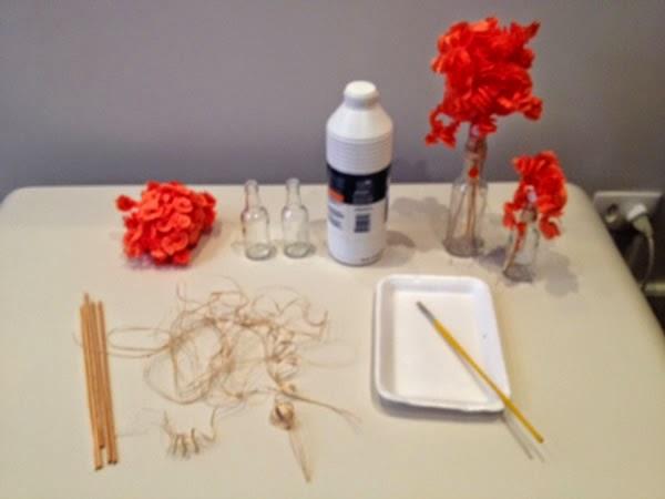 Enfeite centro de mesa - materiais