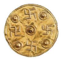 σβάστικα,σύμβολο του έρωτα σε νόμισμα,χρυσό νόμισμα,swastika, a symbol of love in currency, gold coin