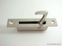 裝潢五金 品名:DH3-白鐵暗把手 規格:20*100MM(64MM) 玖品五金