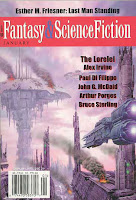 Fantasy and SF Magazine January 2005. Art by Max Bertolini
