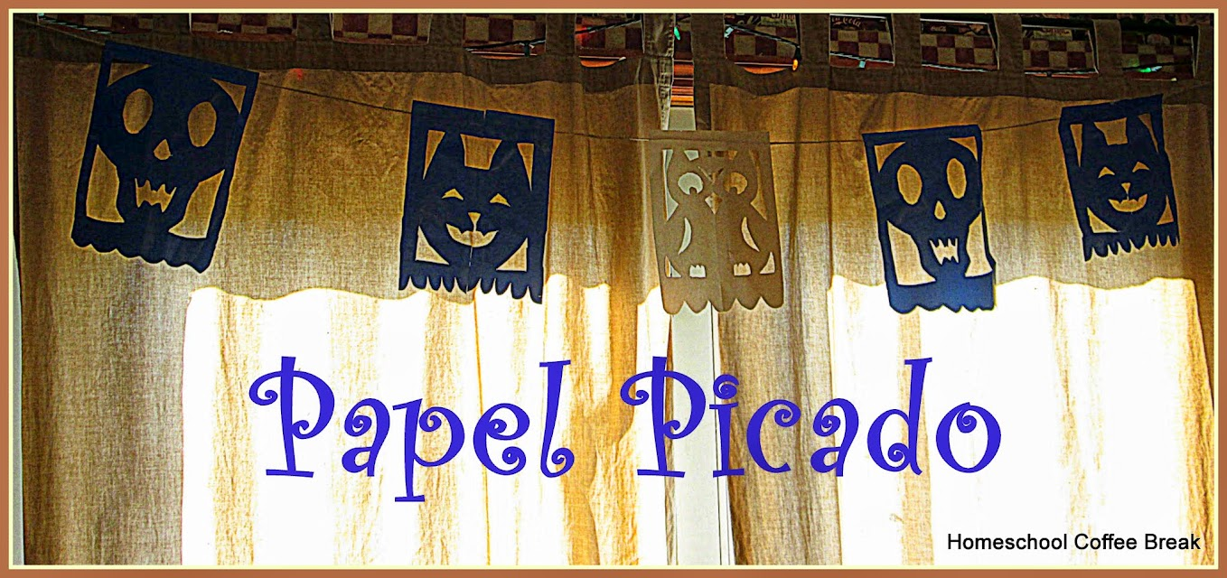 Papel Picado for Dia de los Muertos on the Virtual Refrigerator, an art link-up hosted by Homeschool Coffee Break @ kympossibleblog.blogspot.com