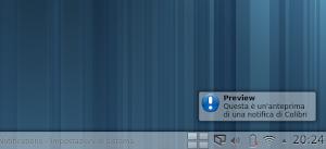 Colibri 0.3.0 in KDE