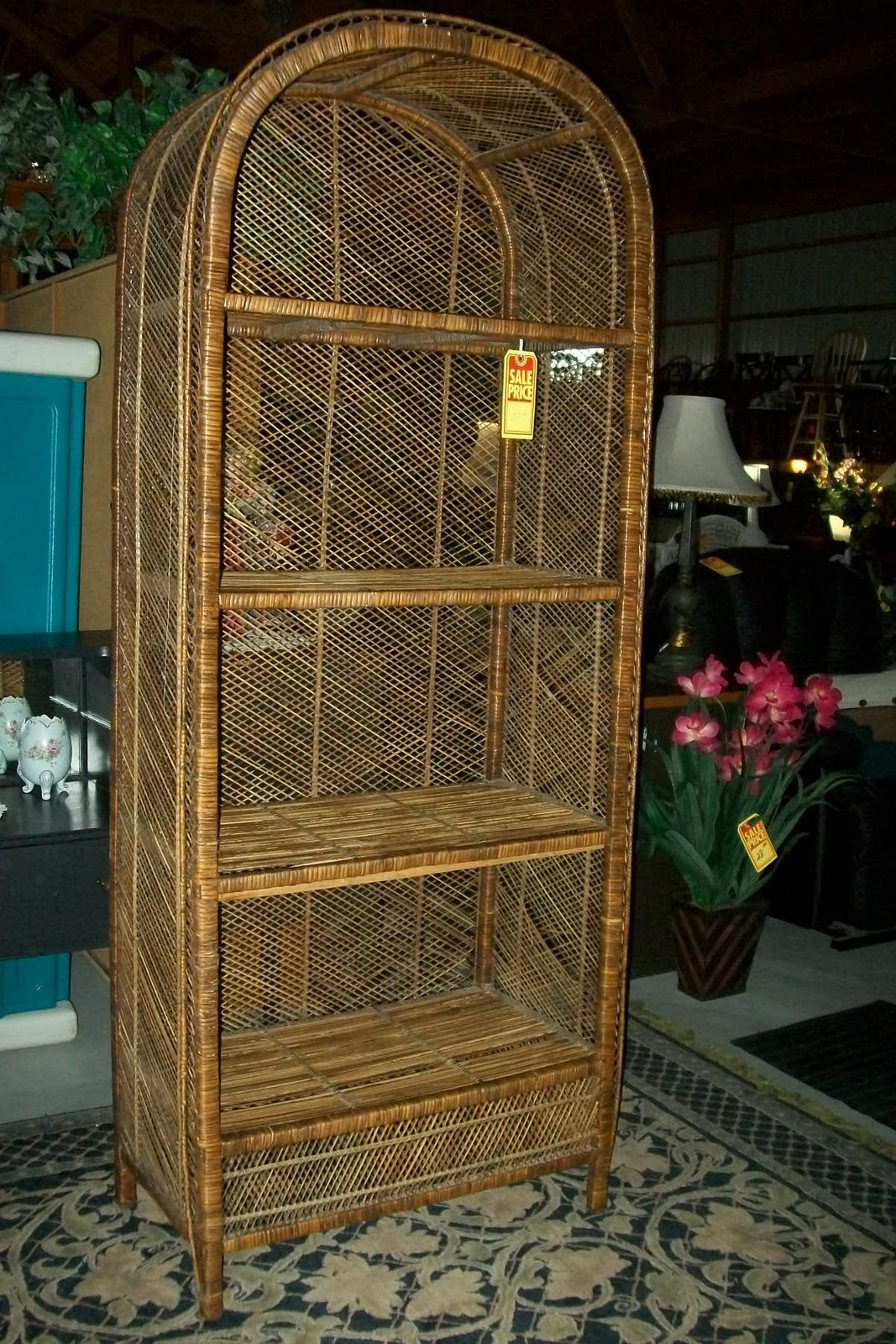 Gentlyusedfurniture Large Wicker Shelf