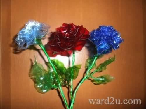 اجمل زهور من الزجاجات البلاستيك مع الشرح