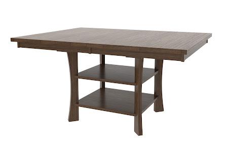 "46"" x 46"" Craftsman Island Table in Mahogany Oak"