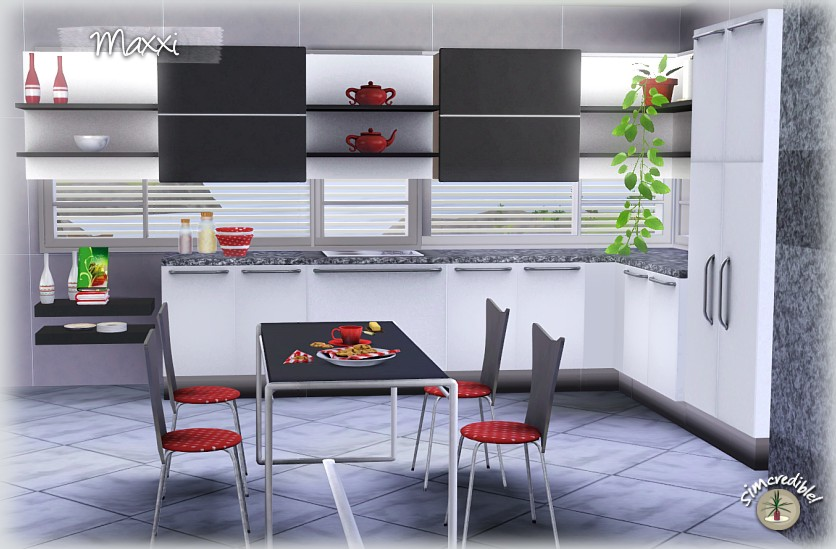 My sims 3 blog maxxi kitchen set part 1 by simcredible for Sims 3 kitchen designs