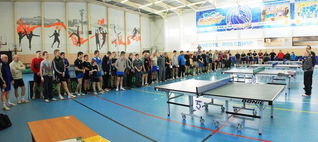Открытие турнира по настольному теннису в Угличе в честь Дня Защитника Отечества