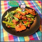 ผัดพริกแกงผักกว้างตุ้งเต้าหู้