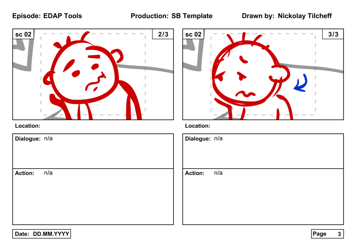 the edap tools storyboard template free download electric dog