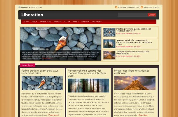 Wooden Corporate Business Jquery Wordpress Theme