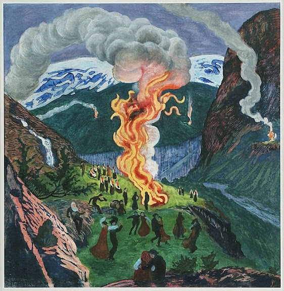 Nikolai Astrup - Midsummer Night Bonfire