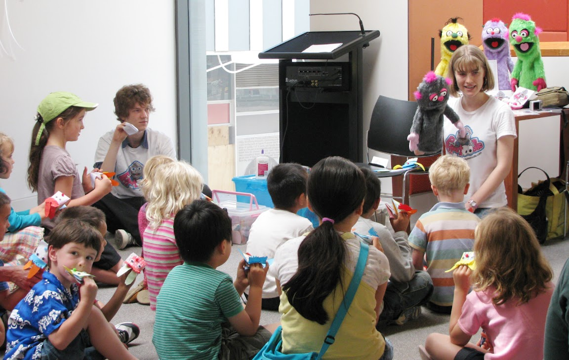 Puppet making & manipulation workshops at ACT Libraries