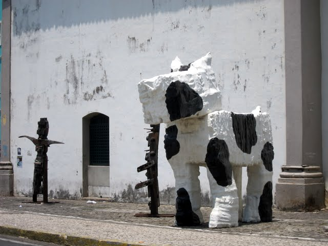 Public sculptures in Salvador Brazil