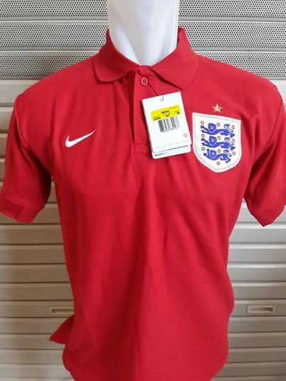 Jual Kaos Polo Timnas Inggris Warna Merah Terbaru 2014