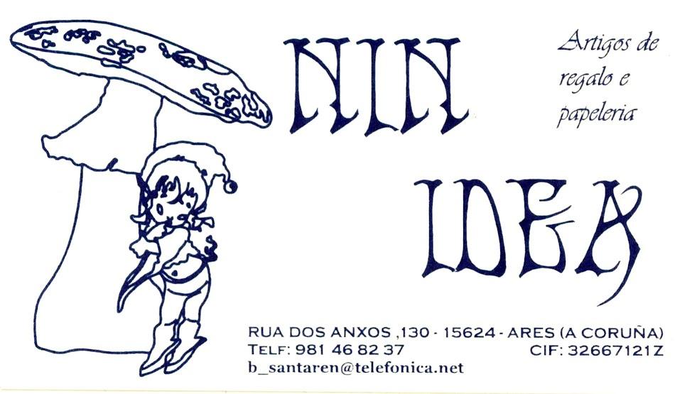 Nin Idea. Artigos de regalo e papelería, colaborador coa A.D.R. Numancia de Ares.