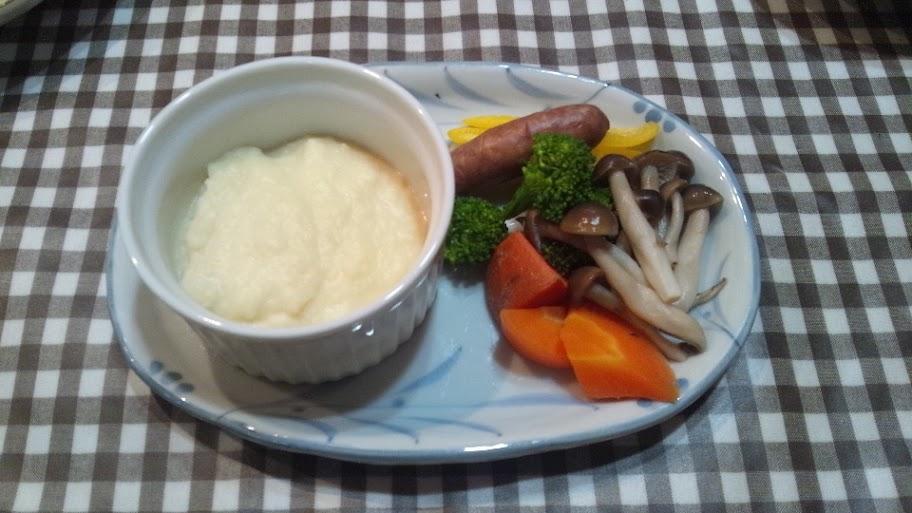 温野菜のサラダ ポテトソース添え