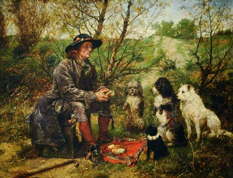 Edgar Bundy - Man Eating Lunch