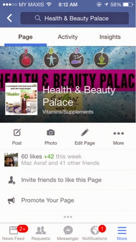 Page Health & Beauty Palace - jom like bersama-sama