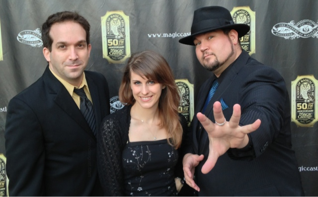 David August, Allyson Floyd and Aaron Kaiser photographed at The Magic Castle in Hollywood on June 19, 2013