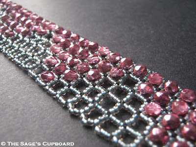 Bejewelled Right Angle Weave Cuff