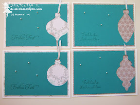 stampin up holiday ornaments christbaumschmuck wunderbare weihnachtsgrüße more merry messages christmas