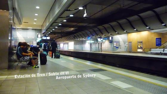 Estación de Tren / Subte en Sydney