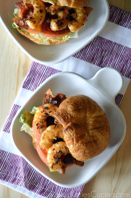 Shrimp BLT Croissant Sandwich