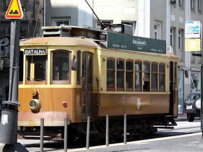 Streetcar in Porto Portugal