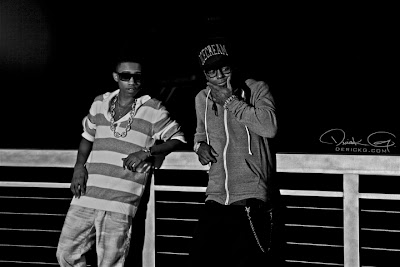 Foto del Lil Wayne y Lil Twist en el rodaje del video de Love Affair del disco Don't get it twisted de Lil Twist
