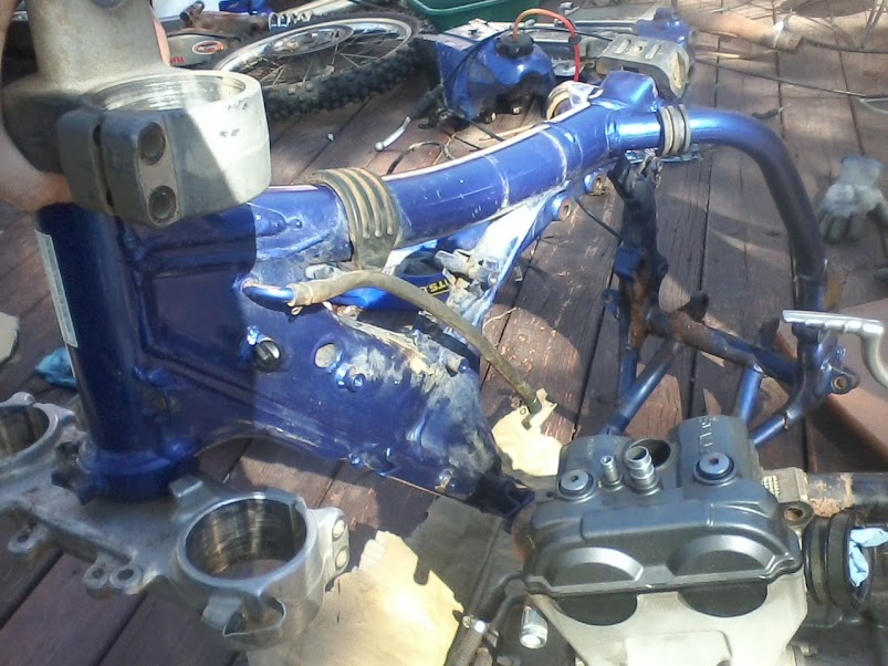 Putting A Dr350 Engine In A 05 Yz250f Frame  Got Some