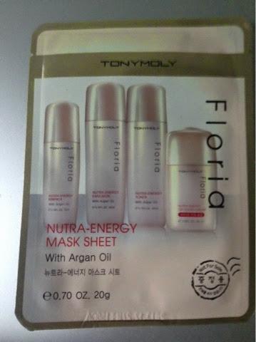 A Simple Moment Tonymoly Floria Nutra Energy Mask Sheet