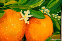 painting Fresh and strong start with oranges!