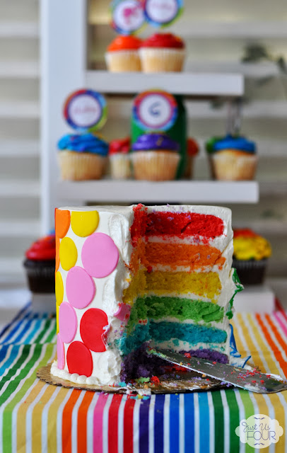 rainbow barbie party rainbow cake