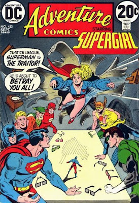 Supergirl Adventure Comics #423, Justice League of America