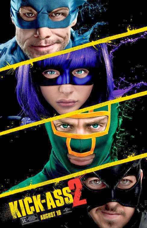 Poster Of English Movie Kick-Ass 2 (2013) Free Download Full New Hollywood Movie Watch Online At Alldownloads4u.Com