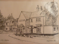 Prince Regent (now Sycamore House) and Forge Cottage from Church Street, Little Shelford