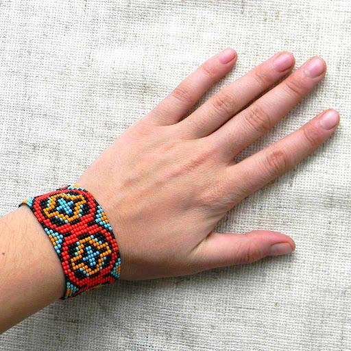 украшения из бисера ручной работы  браслет купить интернет магазин