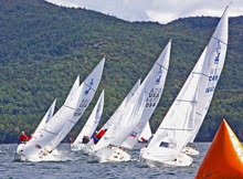 J/22 sailing Lake George, New York