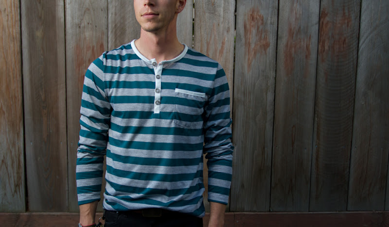 Teal Henley Fit