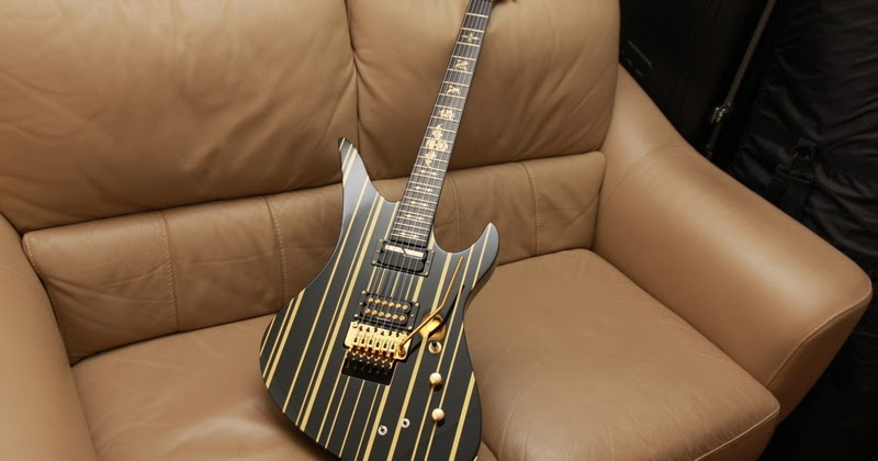 schecter synyster gates custom s black gold stripes limited edition. Black Bedroom Furniture Sets. Home Design Ideas