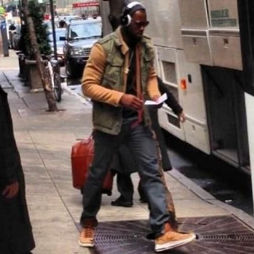 KingJames Wears NSW8217s Nike LeBron X Cork Off the Court